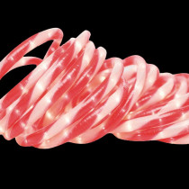 Brite Star 18 ft. 50-Light Red/White Candy Cane Rope Light