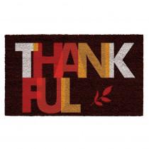 Home & More Thankful 17 in. x 29 in. Coir Door Mat