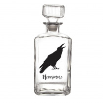 Cathy's Concepts Halloween Raven 9 in. H 34 oz. Halloween Glass Decanter