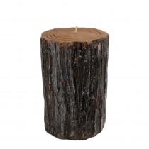3.5 in. x 6 in. Bark Pillar Candle