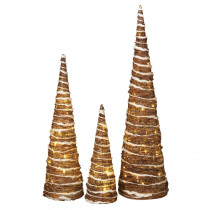 32 in. H Nested Champagne Trees (Set of 3)