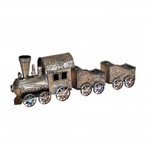 35.25 in. L Battery Operated Lighted Musical Metal Train