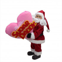 12 in. Santa Claus Who's Your Sugar Daddy Christmas Tabletop Decoration