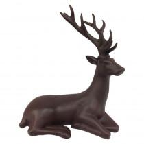12 in. Sitting Reindeer Matte Brown