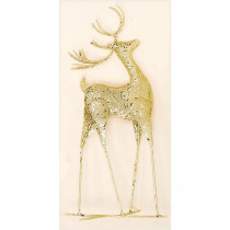 20 in. Gold Metal Reindeer