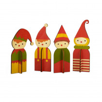 5 in. Christmas NordicElf Decorations (8-Piece)