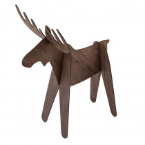 18 in. Christmas Alpine Moose Decoration