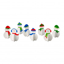 2.6 in. Christmas Roger the Snowman Decorations (8-Piece)