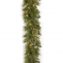 Atlanta Spruce 9 ft. Garland with Clear Lights