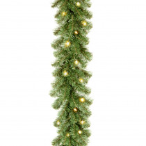 9 ft. Kincaid Spruce Garland with Clear Lights