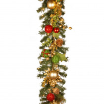 6 ft. Decorated Christmas Artificial Garland with Battery Operated LED Lights