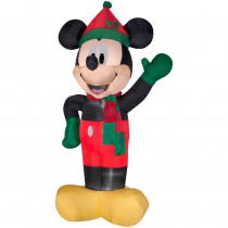 8 ft. Inflatable Lighted Airblown Mickey with Hat and Scarf