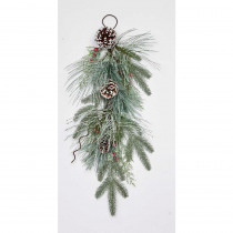 26 in. Pine with Snow Teardrop