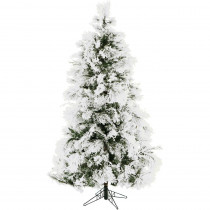 Christmas Time 6.5 ft. Frosted Fir Snowy Artificial Christmas Tree