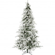 Christmas Time 7.5 ft. White Pine Snowy Artificial Christmas Tree