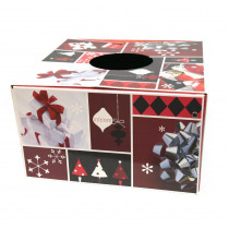 6 in. Dia Burgundy and Red Original Christmas Tree Skirt Box