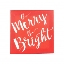 12 in. Christmas Merry and Bright Gallery Wrapped Canvas