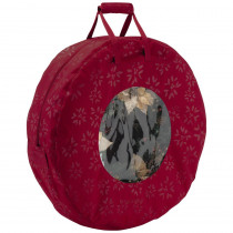 Classic Accessories Cranberry Seasons Wreath Storage Bag in Large