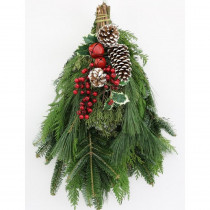 Cottage Farms Direct 16 in. Fresh Mixed Christmas Celebration Evergreen Swag