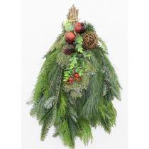 Cottage Farms Direct 16 in. Fresh Mixed Christmas Delight Evergreen Swag