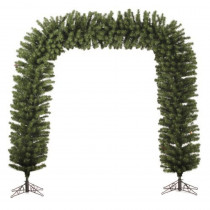 Darice Commercial Size 9 ft. x 8 ft. Green Pine Artificial Christmas Archway Unlit