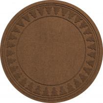 Bungalow Flooring Aqua Shield Dark Brown 35 in. Round Pine Trees Under the Tree Mat