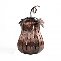 Desert Steel 5.5 in. x 10 in. Bronze Fall Harvest Mini Squatty Gourd Luminary