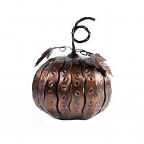 Desert Steel 5.5 in. x 7.5 in. Bronze Fall Harvest Mini Pumpkin Luminary