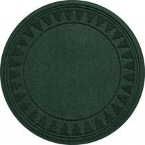 Bungalow Flooring Aqua Shield Evergreen 35 in. Round Pine Trees Under the Tree Mat