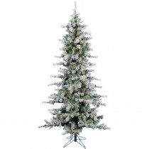 Fraser Hill Farm 6.5 ft. Buffalo Fir Slim Artificial Christmas Tree