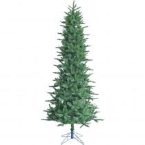 Fraser Hill Farm 6.5 ft. Carmel Pine Slim Artificial Christmas Tree