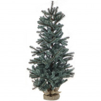 Fraser Hill Farm 4.8 ft. Heritage Pine Artificial Tree with Burlap Base