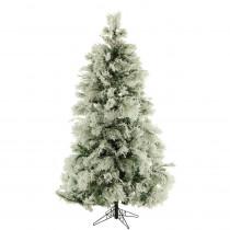 Fraser Hill Farm 10 ft. Unlit Flocked Snowy Pine Artificial Christmas Tree