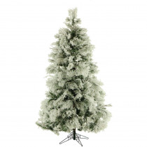 Fraser Hill Farm 12 ft. Unlit Flocked Snowy Pine Artificial Christmas Tree