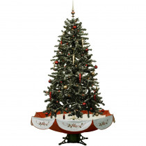 Fraser Hill Farm 55 in. Snowing Musical Christmas Tree with Red Base and Snow Function