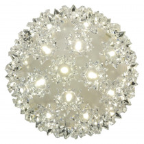 GE Stay Bright LED 5.5 in. 50-Light Warm White Decorative Super Sphere (4-Piece)