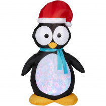 Gemmy 7.5 ft. H Kaleidoscope Inflatable Penguin