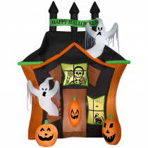 Gemmy 8.99 ft. Pre-Lit Inflatable Haunted Ghost House Scene Airblown