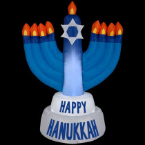 Gemmy 31.50 in. D x 21.65 in. W x 42.13 in. H Inflatable Outdoor Hanukkah Candles