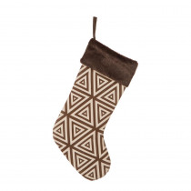 Glitzhome 20 in. L Christmas Stocking with Faux Fur Cuff