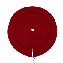 Glitzhome 48 in. D Knitted Christmas Tree Skirt in Red