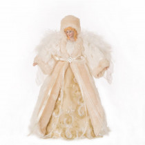 Glitzhome 12 in. H Faux Fur Christmas Tree Topper Decoration
