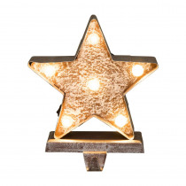 Glitzhome 7.5 in. H Marquee LED Lighted Christmas Stocking Holder Star