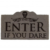 Entryways Enter if You Dare 17 in. x 28 in. Non-Slip Coir Door Mat