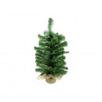Darice 2 ft. Unlit 2-Tone Balsam Fir Artificial Christmas Tree in Burlap Base