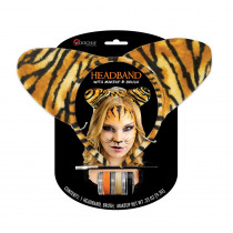 Tiger Stripe Headband with Make up