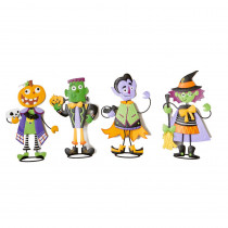 24 in. Metal Standing Halloween Figures (4-Set)