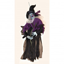 35 in. Hanging Witch with Sound and Touch