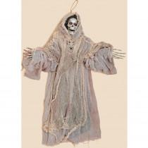 36 in. Hanging Skeleton Grim Reaper In Cloth