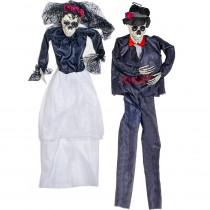 36 in. Halloween Hanging Bride and Groom (Set of 2)
